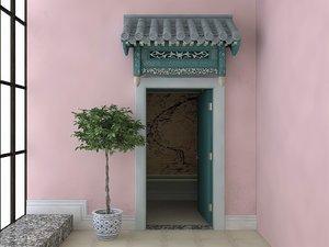 3D interior scene home chinese model