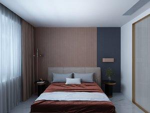 interior scene molteni bedroom 3D model