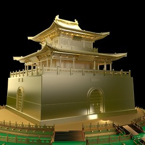 3D chinese ancient house model