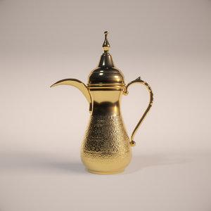 arabic dallah coffee pot 3D model
