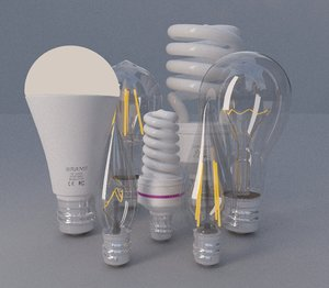 3D model lighting bulbs