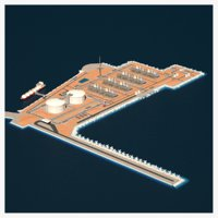 LNG Terminal Island and Ship