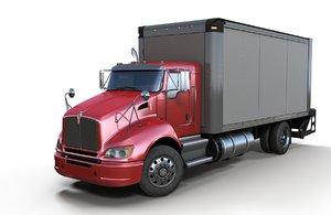 3D model t370 box truck