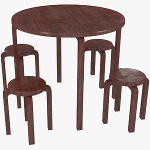 minimalist mahogany artek alvar aalto model