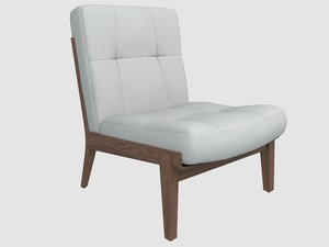 capo armless lounge chair 3D model