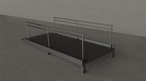metal ramp 3D model