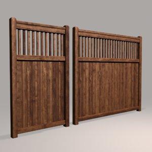 3D model wood fence 03