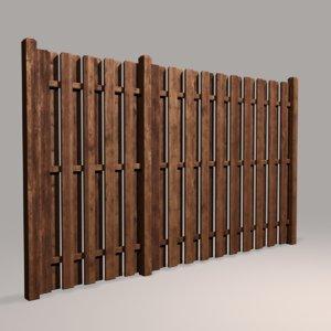 wood fence 04 model