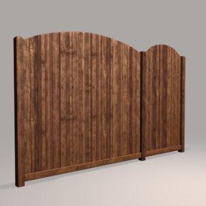 wood fence 05 3D model
