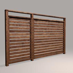 3D wood fence 07