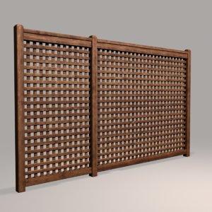 wood fence 08 3D model