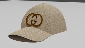 3D gucci cap model