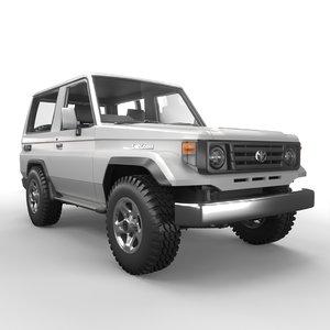 1990 toyota j70 3D model