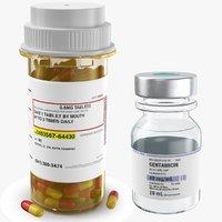 Two Medicine Bottles Vial