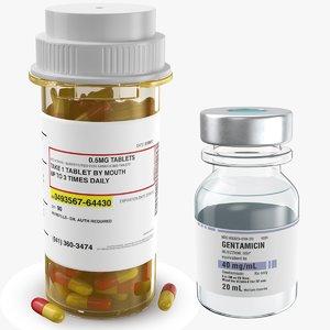 real medicine bottle vial 3D