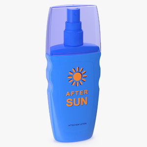 spray bottle sun lotion 3D model