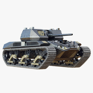 future electric tank 3D model