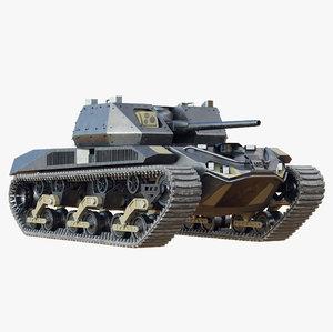 future electric tank 3D model