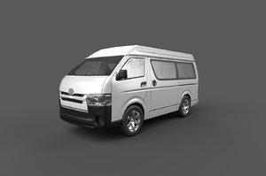 toyota hiace passenger van 3D model