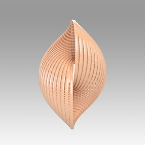 3D model twisty lamp twist