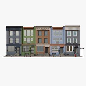 town house color 3D model