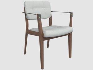 capo dinning chair neri 3D