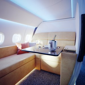 3D aircraft interior vip