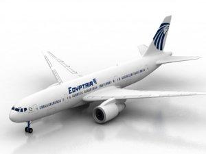 3D air plane boing model
