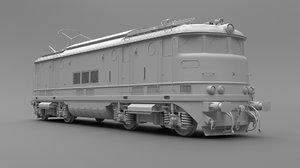 train locomotive old 3D model