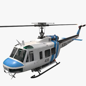 helicopter bell uh-1 huey 3D model