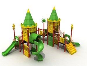 3D metal playground polythene