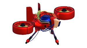 3D fighter spaceship aircraft military