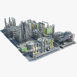 3D industrial area 14 model