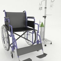 wheel chair with iv stand
