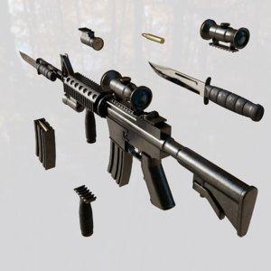 assault rifle gun 3D model