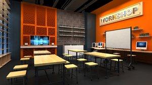 manual classroom 3D model
