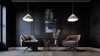 Simple Livingroom Darkroom