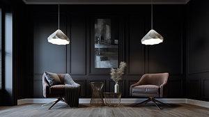 3D livingroom interior