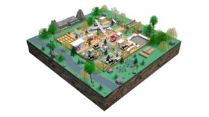 imaginary town 3D model