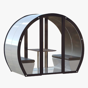 3D outdoor meeting pod model