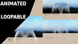 water jets fountains conic 3D