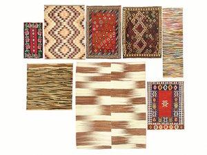 3D old vintage carpets