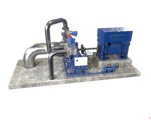 3D siemens sst 060 steam turbine model