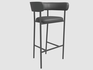 font bar stool mobel model