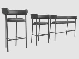font stools mobel copenhagen 3D model