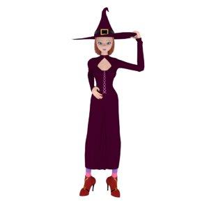 3D cartoon witch