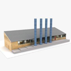 3D modern european building 01