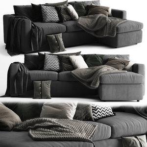 3D model vimle sofa 3 seats