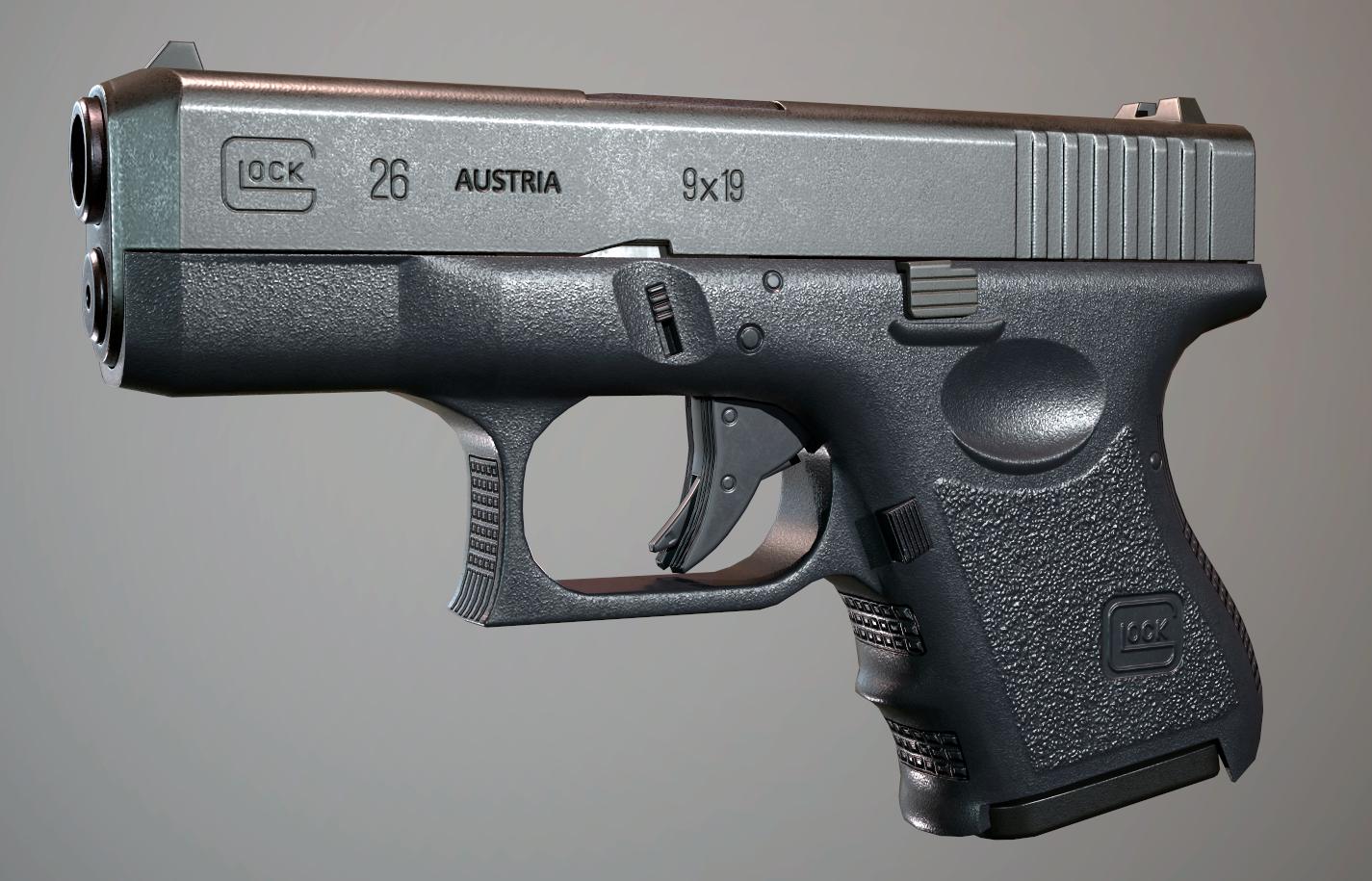 Gun blender pbr 3D model - TurboSquid 1579871