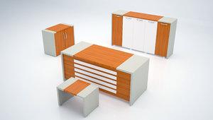 3D furniture design office table model